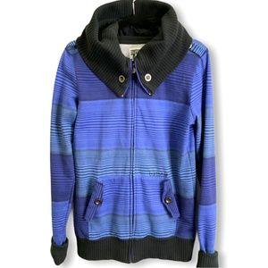 BURTON Cotton Blend Shawl Collar Hooded Jacket M